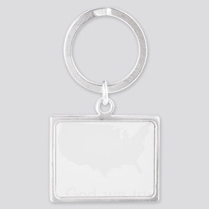 In God we trust Landscape Keychain