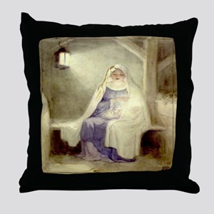 Blessed Nativity Throw Pillow