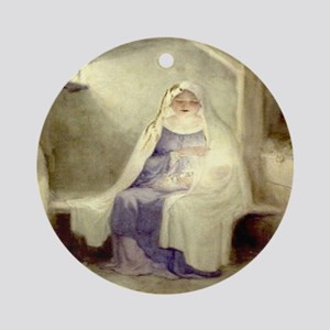 Blessed Nativity Round Ornament