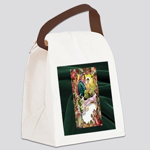 Floral Hail Mary Canvas Lunch Bag