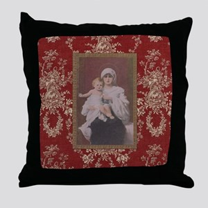 The Holy Mother Throw Pillow