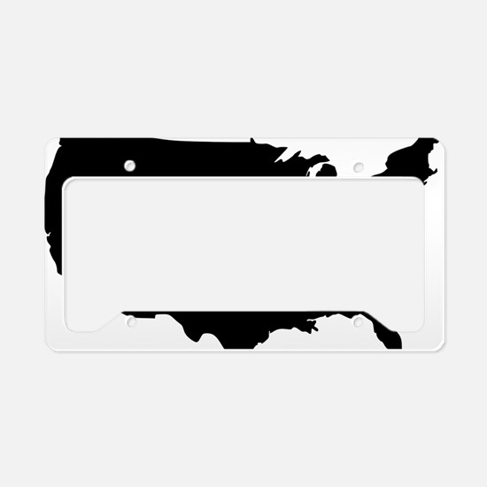 Black License Plate Holder