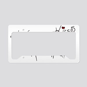 3x the Hugs & 3x the Kisses License Plate Holder