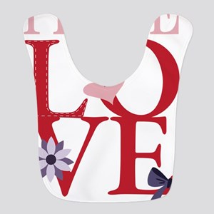 Peace Love Valentine Bib