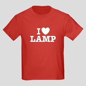 I Love Lamp Kids Dark T-Shirt