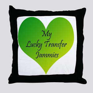 Lucky Transfer Jammies Surrogacy Throw Pillow