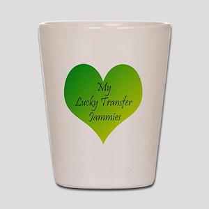Lucky Transfer Jammies Surrogacy Shot Glass