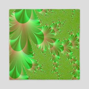 green and peach shower curtain Queen Duvet