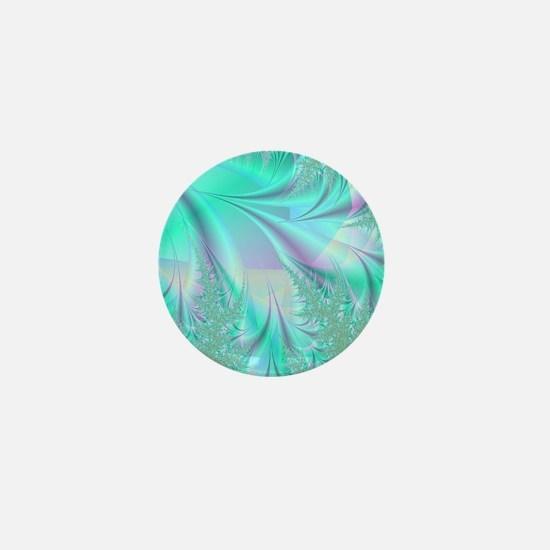 Aqua shower curtain Mini Button