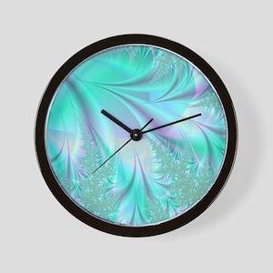 Aqua shower curtain Wall Clock