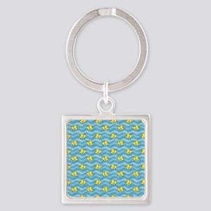 Rubber Ducks Square Keychain