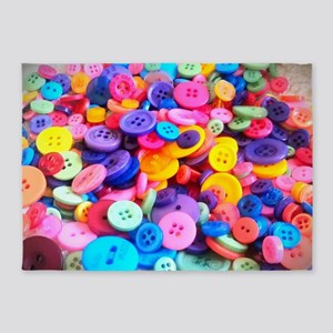 Buttons In Color 5'x7'Area Rug