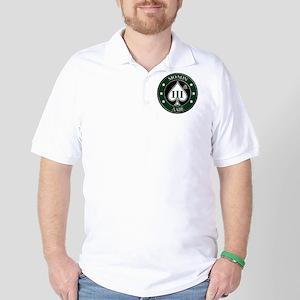 Three Percent Spade - Green Golf Shirt