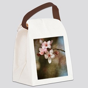 cherry blossom flowers Canvas Lunch Bag