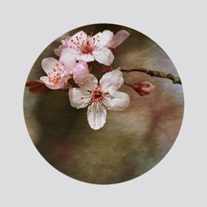 cherry blossom flowers Round Ornament