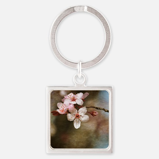 cherry blossom flowers Square Keychain
