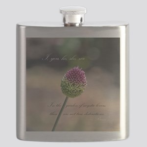 Clover with Rumi Quote Flask