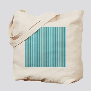 Teal and Gold Stripes Tote Bag