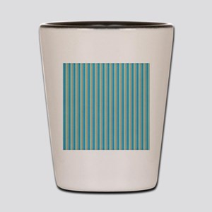 Teal and Gold Stripes Shot Glass