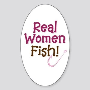 Real Women Fish Oval Sticker