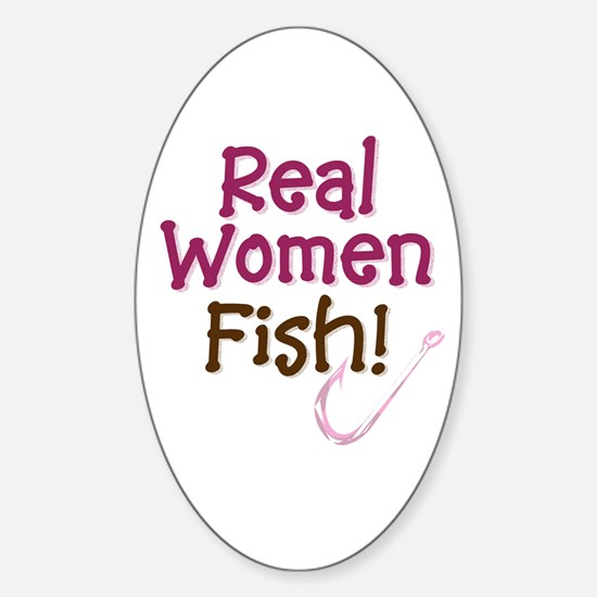 Real Women Fish Oval Decal