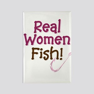 Real Women Fish Rectangle Magnet