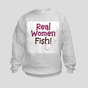 Real Women Fish Kids Sweatshirt