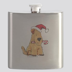 Wheaten Holiday Joy Flask