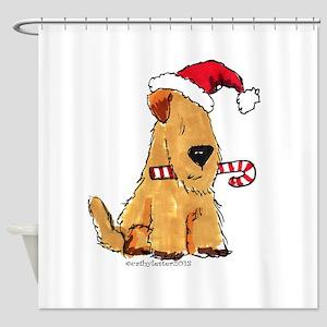 Wheaten Holiday Joy Shower Curtain