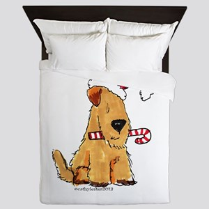 Wheaten Holiday Joy Queen Duvet