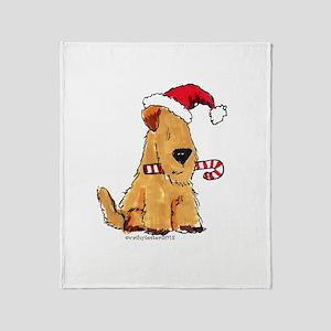 Wheaten Holiday Joy Throw Blanket
