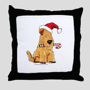 Wheaten Holiday Joy Throw Pillow
