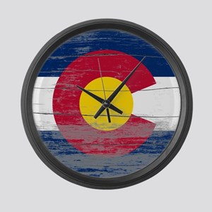 Colorado Old Paint Large Wall Clock