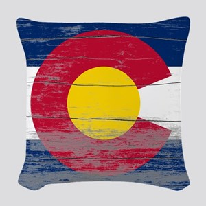 Colorado Old Paint Woven Throw Pillow