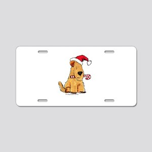 Wheaten Holiday Joy Aluminum License Plate
