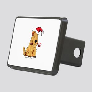 Wheaten Holiday Joy Rectangular Hitch Cover