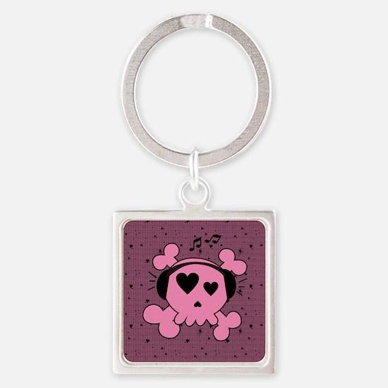 ms_round_coaster Square Keychain