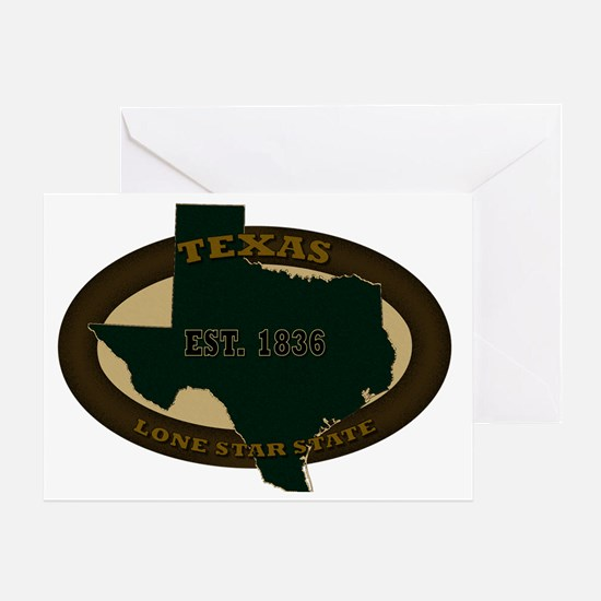 Texas Established 1836 Greeting Card
