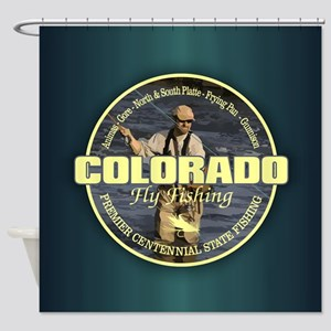 Colorado Fly Fishing Shower Curtain
