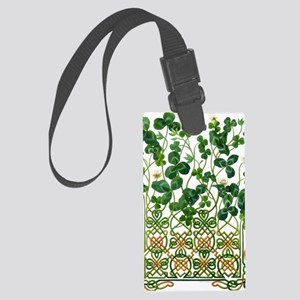 Celtic Shamrock Large Luggage Tag