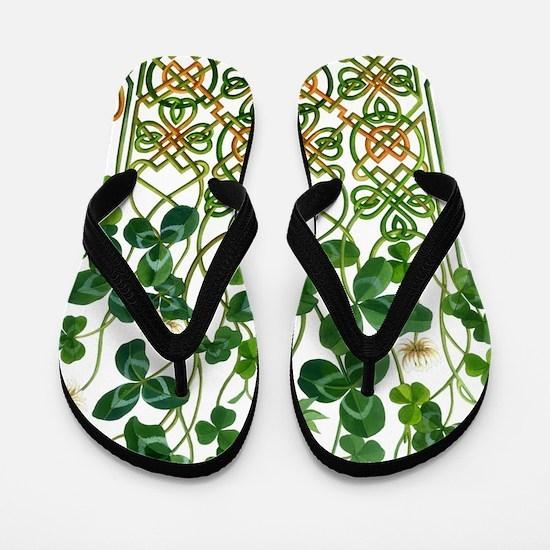 Celtic Shamrock Flip Flops