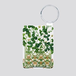 Celtic Shamrock Aluminum Photo Keychain