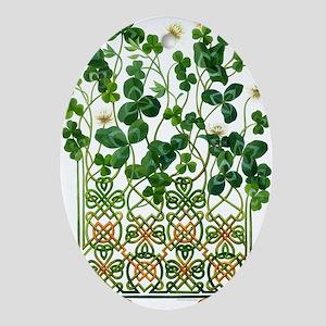Celtic Shamrock Oval Ornament