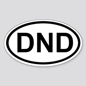 DND Oval Sticker