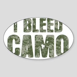 I Bleed Camo (digi) Sticker (Oval)