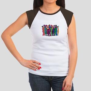 Circle Of Goddesses Cap Sleeve T-Shirt