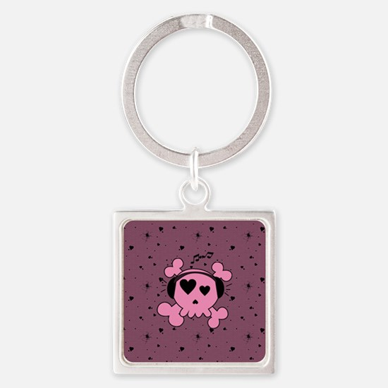 ms_Heart_Wine_869_H_F Square Keychain
