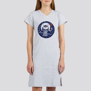 Blue Owl with Moon Women's Nightshirt
