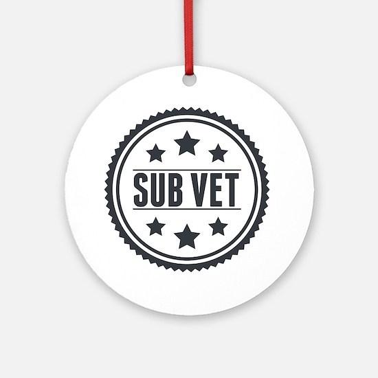 Sub Vet Badge Round Ornament