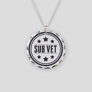 Sub Vet Badge Necklace Circle Charm